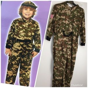 Other - Toddler Army  jumpsuit Costume size 4-6 years